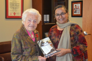Presenting Word Fest to Mayor McCallion